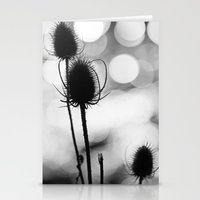 Teasel Silhouette Stationery Cards