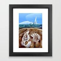 The Geology Of Boating Framed Art Print