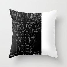 Chrome Spiderman Chest Throw Pillow