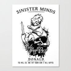 Sinister Minds. Donald Canvas Print