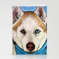 Rio The Siberian Husky  Stationery Cards