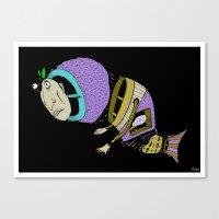 Monsta Fish Canvas Print