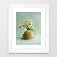 Daisies And Buttercups Framed Art Print
