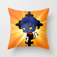 Chibi Nightcrawler Throw Pillow