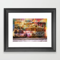 Sound Wall Framed Art Print