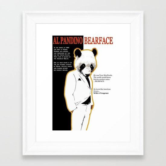 Tony MonPanda - Bearface Framed Art Print
