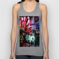 help me graffitti Unisex Tank Top