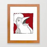 Rooster Shock Framed Art Print