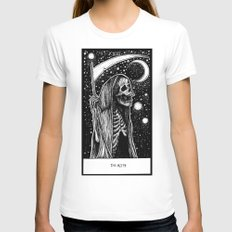 Death Tarot Womens Fitted Tee White SMALL
