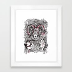 Pan Framed Art Print