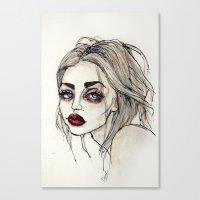 Frances Bean Cobain no.3 Canvas Print