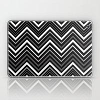 Black and white Chevron Laptop & iPad Skin