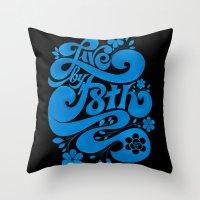 Live By F8th Script Blac… Throw Pillow