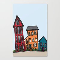 TownHouses Canvas Print