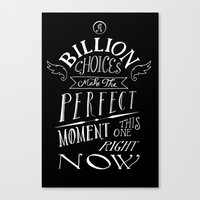 Perfect Moment Canvas Print