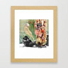 First Kiss Underwater Framed Art Print