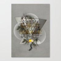 Keep Calm And Breathe De… Canvas Print