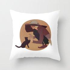 cole cat Throw Pillow