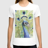 peacock T-shirts featuring Peacock by Olechka