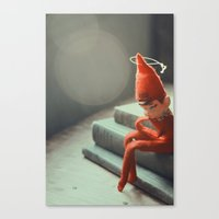Howard The Christmas Elf Canvas Print