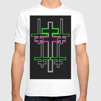 CROSS OVER Mens Fitted Tee White SMALL