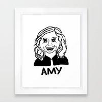 Amy Poehler Framed Art Print
