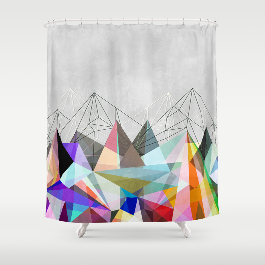 pale blue shower curtains society6. Black Bedroom Furniture Sets. Home Design Ideas