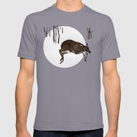 Odocoileus Virginianus Mens Fitted Tee Slate SMALL
