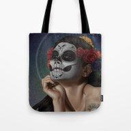 Tote Bag featuring Skulls by JoiFish