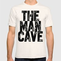 Man Cave 2 Mens Fitted Tee Natural SMALL