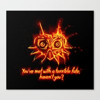 Majora's Mask Fire Canvas Print
