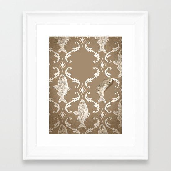In which a fish frees itself Framed Art Print
