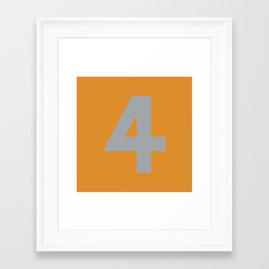 Number 4 Framed Art Print