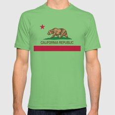 California Republic state flag - Authentic High Quality Version Mens Fitted Tee Grass SMALL