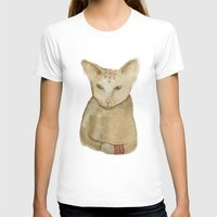 Totem Kitteh 1 Womens Fitted Tee White SMALL