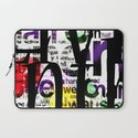 Abstract Text Laptop Sleeve