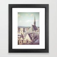Oxford Roofs Framed Art Print