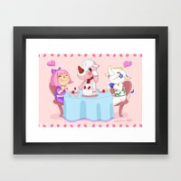 Animal Crossing :: Cake … Framed Art Print