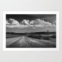 Montana Road Highway Nea… Art Print