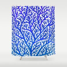 Fan Coral – Blue Ombr�… Shower Curtain