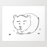 Bear McBear Art Print