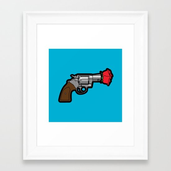 Pop Icon - Banksy Framed Art Print