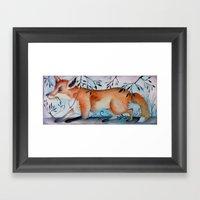 Little Red Fox Framed Art Print