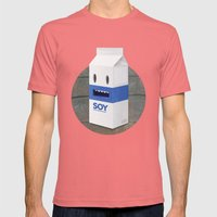 Soy Milk Mens Fitted Tee Pomegranate SMALL
