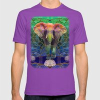 Wandering Elephant Mens Fitted Tee Ultraviolet SMALL
