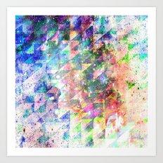GLITCHED Art Print