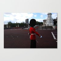 A Guard Stands To Attent… Canvas Print