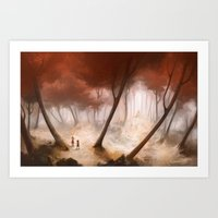 Hansel & Gretel (Cropped/Standard Frame Size) Art Print