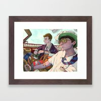 The Problem with Rich kids Framed Art Print