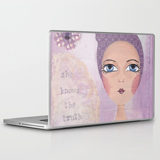 She knows the truth Laptop & iPad Skin